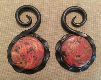 Clay Stone Gauged Earrings- 6g