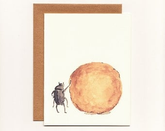 Funny Greeting Card, Congratulations, Recognition, Accomplishment, Humorous Dung Beetle Greeting Card