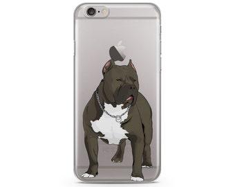 Pitbull iPhone 6s case, Custom illustrated dog iPhone Case, Hand Drawn dog iPhone Case, iPhone 7 case, iPhone 7 plus case