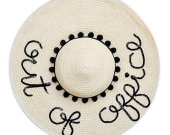 Out Of Office Floppy Sun Hat