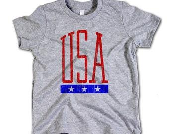USA Vintage Toddler Tee 2-12 Years USA 3 Star RB