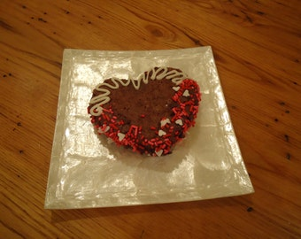 Gourmet heart shaped brownies, Gourmet brownies, Valentine brownies, Valentine gourmet chocolate, gourmet chocolate