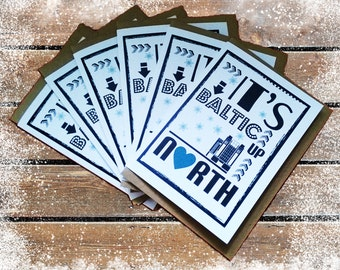 Its Baltic Up North Christmas Card Pack: Pack of 6