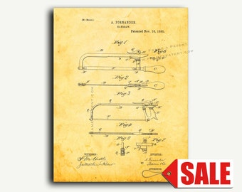 Patent Art - Handsaw Patent Wall Art Print