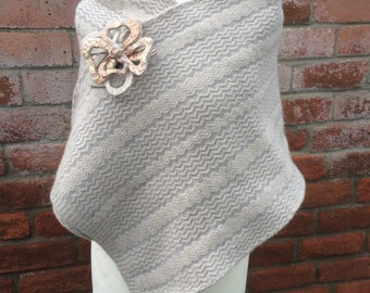 Lambswool Wrap - Evening Wrap - Winter Wrap - Glamorous Evening Shawl - Knitted Wool Wrap - Warm Wooly Wrap