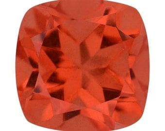 SunFire Orange Quartz Triplet Loose Gemstone Cushion Cut 1A Quality 9mm TGW 3.20 cts.