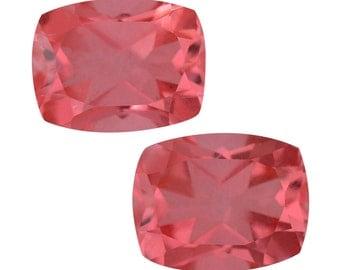 Padparasha Quartz Triplet Cushion Cut Loose Gemstones Set of 2 1A Quality 10x8mm TGW 6.50 cts.