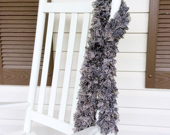 Animal Print Ruffle Scarf, Cheetah Print Scarf, Trendy Ruffle Scarf for Women or Teens, Fashionable Animal Print Scarf