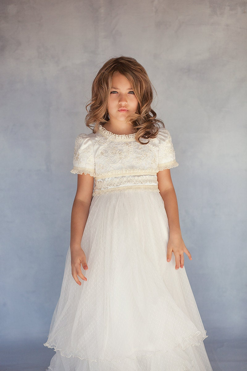 Lace couture dress flower girl dress junior bridesmaid zoom ombrellifo Images