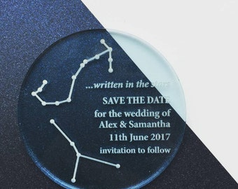 Constellation Perspex Save The Date