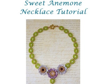 Sweet Anemone Necklace Tutorial