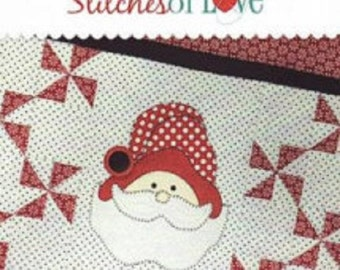 Santa Table Runner kit including Pre-cut kit by Stitches of Love Quilting