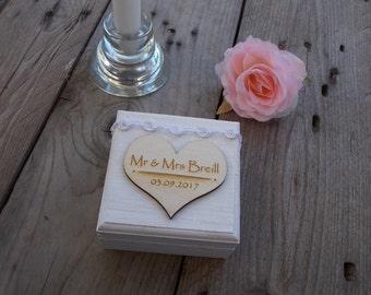 Ring box white roses ring box, ring bearer box, ring, rings, Ringschtulle