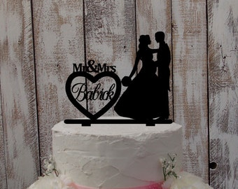 Cake topper pregnant bride - cake character name