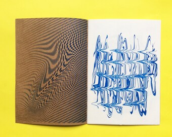 "Risograph Abstract Art Zine ""Distorções"" (Distortions)"