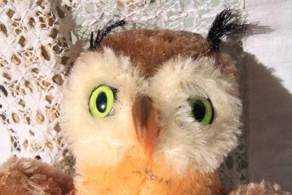Cute Steiff Wittie Owl 2620/14 Made in Austria, Vintage Steiff Animal, Steiff for Collectors, Steiff bird, collectible Steiff Owl/Bird,
