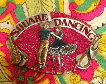 Vintage Belt Buckle Square Dancing