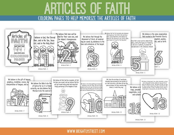 article of faith coloring pages - photo#5