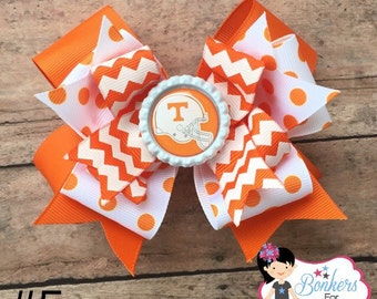Tennessee Vols Hair Bow, University of Tennesee hairbow, Tennessee Vols hairbow, Volunteers Hairbow,