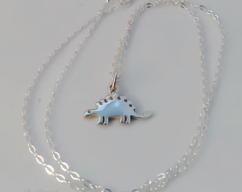 Stegosaurus necklace, dinosaur necklace, dinosaur jewelry, animal jewelry, gift for her