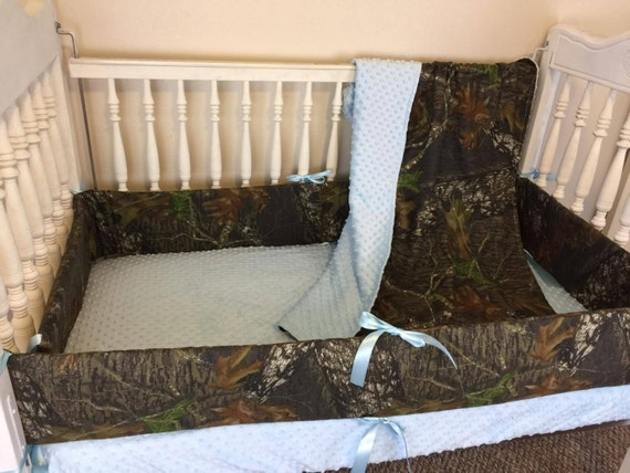 Mossy Oak Camo & Blue Bedding/Camo By SewSweetBabyDesigns On Etsy