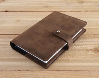4X6 Refillable Light Brown, Handmade Leather Journal