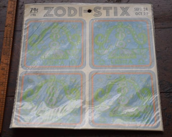 Zodi-Stix Retro Libra Stickers