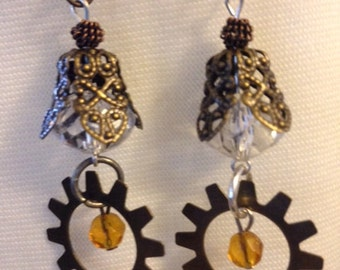 Hanging Earrings with Gears