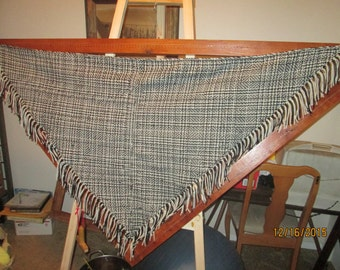 Double weave 6' triangular shawl