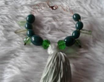 Green Tassle Bracelet