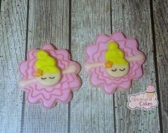 "Bowing Ballerina decorated sugar cookies -1 dozen 3"""