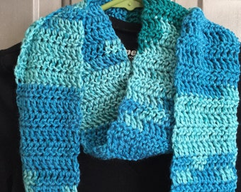 Teal Ombre Scarf