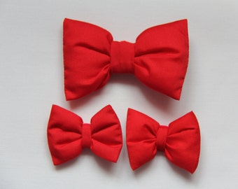 Red Bow Hair Clip, Large Red Hair Bow, Red Baby Bows, Alligator Clip for Baby, Toddler, Children & Adults