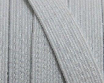 "5 yards of 3/8"" White Braid Elastic sku9001"