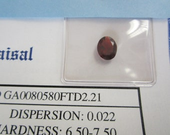 Genuine Garnet 2.21 Carats with Certificate of Appraisal