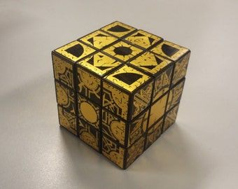 Hellraiser puzzle box stickers for Rubik cubes