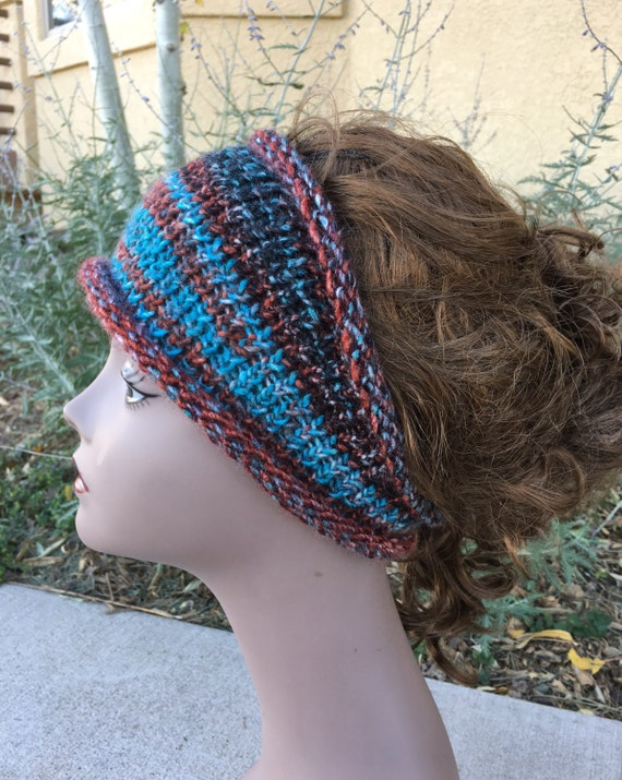 Hippie Headband Knitting Pattern : Boho Headband a loom knit pattern