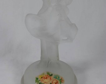 Art deco man and woman dancing frosted glass lamp statue