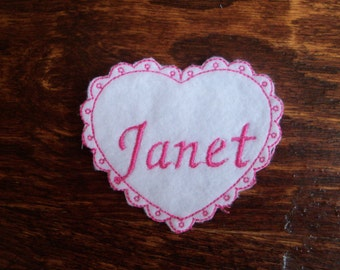 Embroidery Personalized Baby Name patch