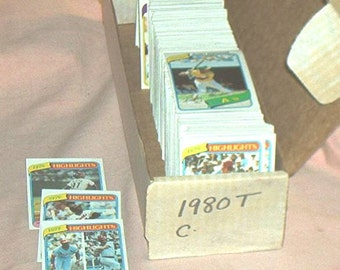 1980 TOPPS Baseball Complete SET, 726 Cards, from Collector, Fn.+/VF, With Rickey Henderson Rookie Card...
