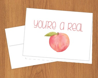You're A Real Peach - Just Because Cards - Thank You - 4bar