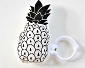 Pineapple Rattle Organic Baby Toy / Hand...
