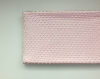 Light Pink Minky ~ Changing Pad Cover