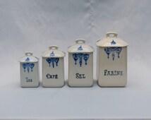 French storage pots