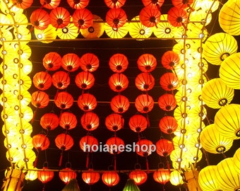 Lot of 16 pcs Hoi an lanterns 35cm for outdoor weddings decorations - outdoor event decorating