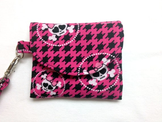 The Ahoy Matey: Pink Skull and Crossbones Wallet