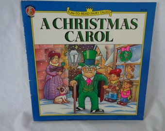 vintage 1992 Fun to Read Fairy Tales A Christmas Carol book illustrated by Paul Hernandez