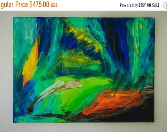 "On Sale Original large  Abstract Painting on Canvas. "" Where You Are""  30"" x 40"" x1.5"""