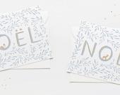 CHRISTMAS GREETINGS CARDS: Noël Squirrel or Deer