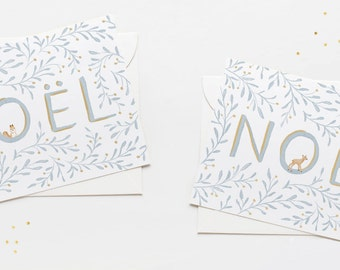 CHRISTMAS GREETINGS CARDS: Noël Squirrel or Deer